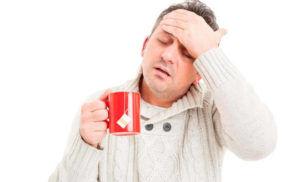 Один из признаков болезни, головная боль