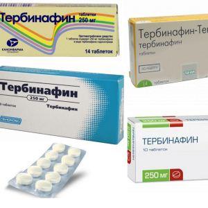 Тербинафин в форме таблеток: инструкция по применению, показания, отзывы