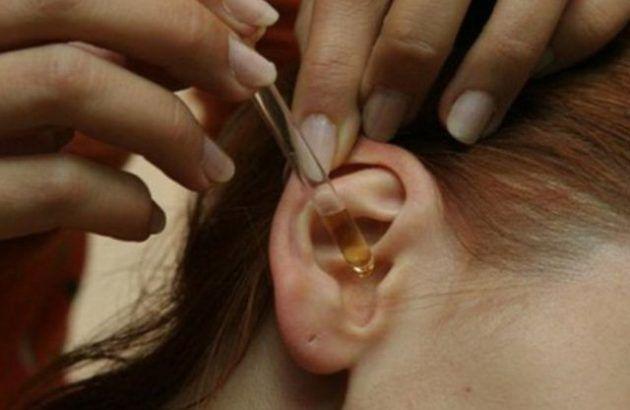 Закапывание уха