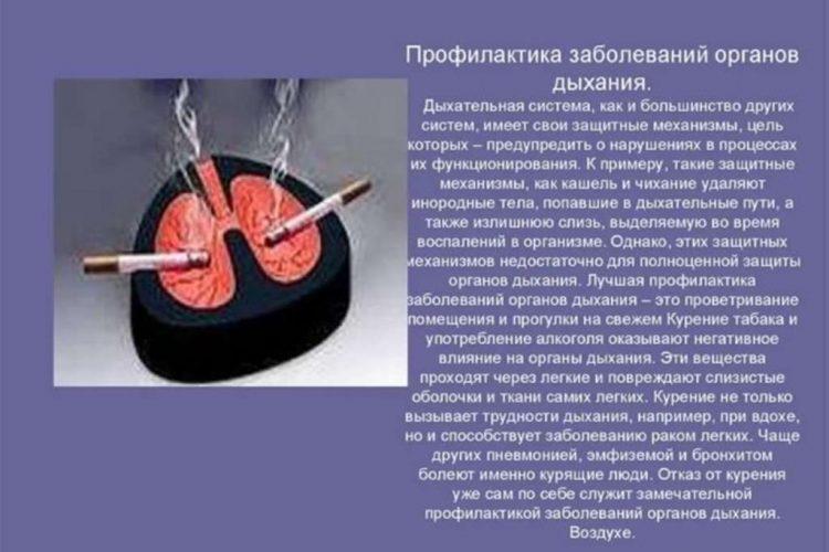 Заболевания органов дыхательной системы