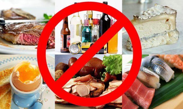 Противопоказание продуктов