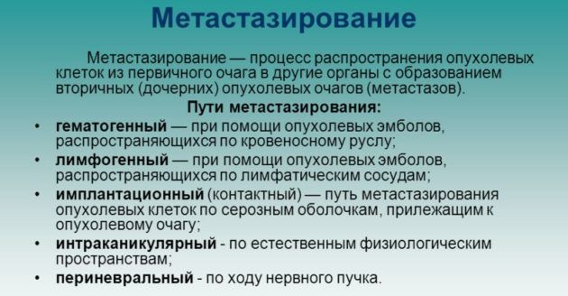 Метастазирование
