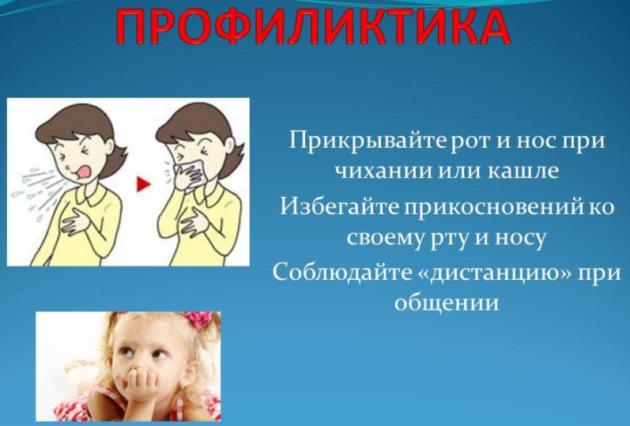 Профилактика насморка и чихания