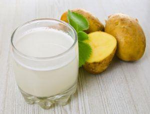 Для полоскания рта отлично подойдёт картофельный сок