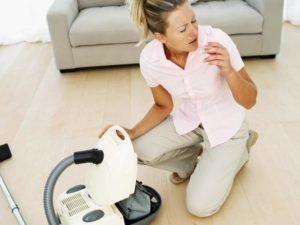 Проявление сухого кашля может быть при аллергии