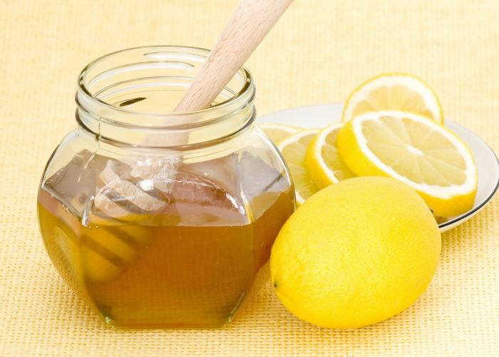 Лимонный сок с мёдом