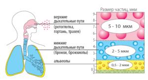 Распределение частиц аэрозоля