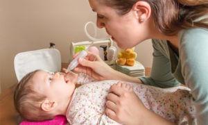 Промывание носа грудничкам