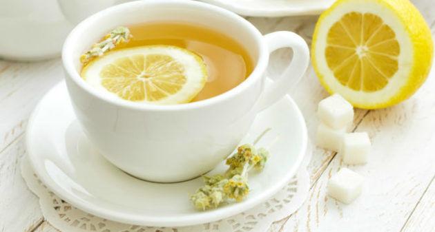 Чай с добавлением лимона