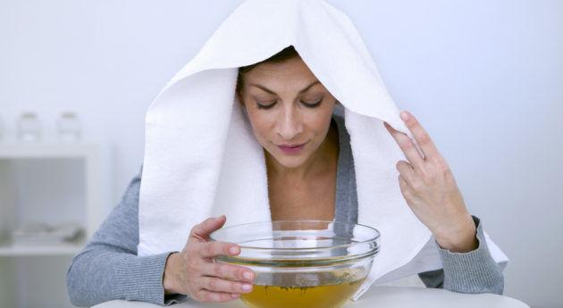 Для лечения насморка и кашля назначают ингаляции