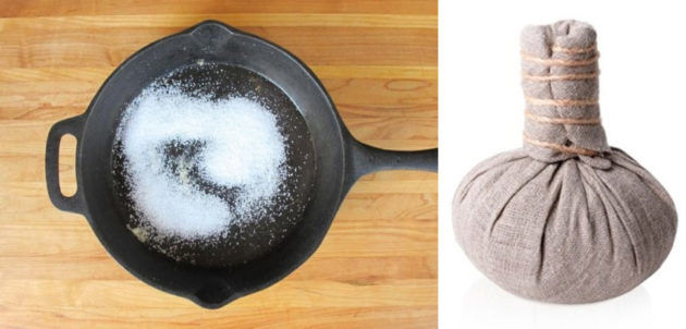 Прогревание солью