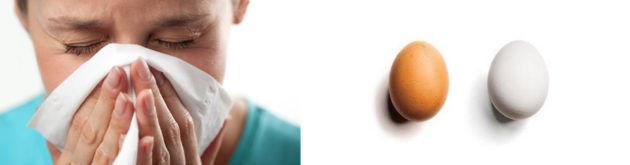 Прогревание носа яйцами