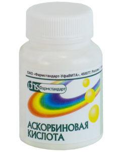 Аскорбиновая кислота драже 50 мг