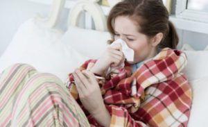 Онемение может возникнуть при простуде