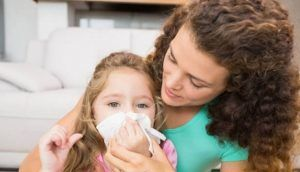 Вирусный ринит у детей