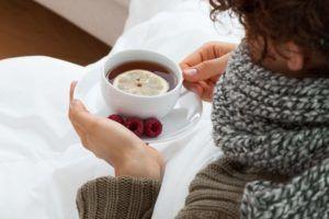 Теплое питье при простуде